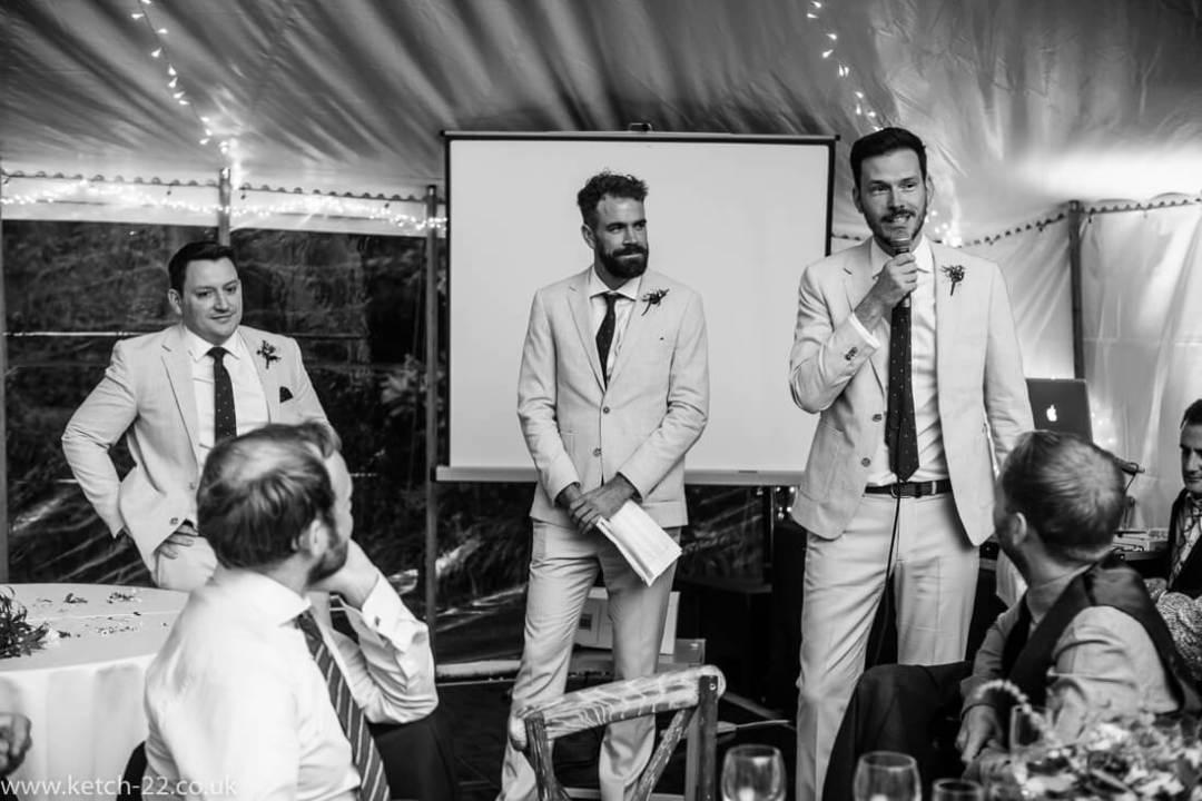 Best man speechs - Winchcombe wedding photographer