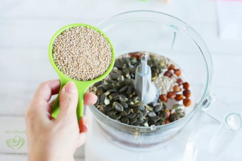 Add raw unhulled sesame seeds   keto-vegan.com