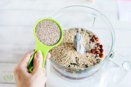 Add chia seeds | keto-vegan.com