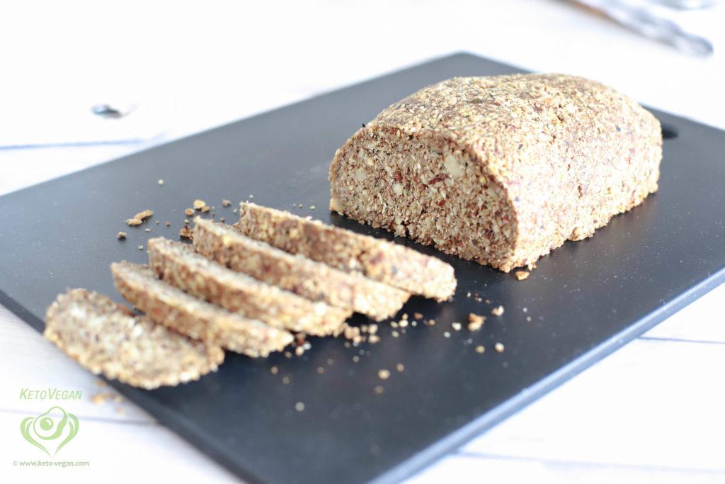 Grain-Free Keto-Vegan Seeded Bread Loaf