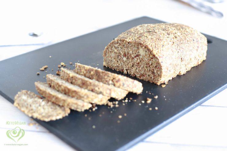 Grain-Free Keto-Vegan Seeded Bread Loaf | keto-vegan.com