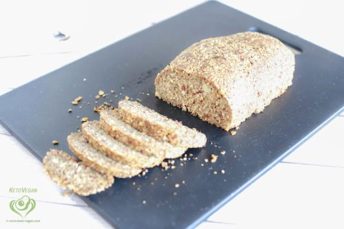 Grain-Free Keto-Vegan Seeded Bread Loaf | keto-vegan.com