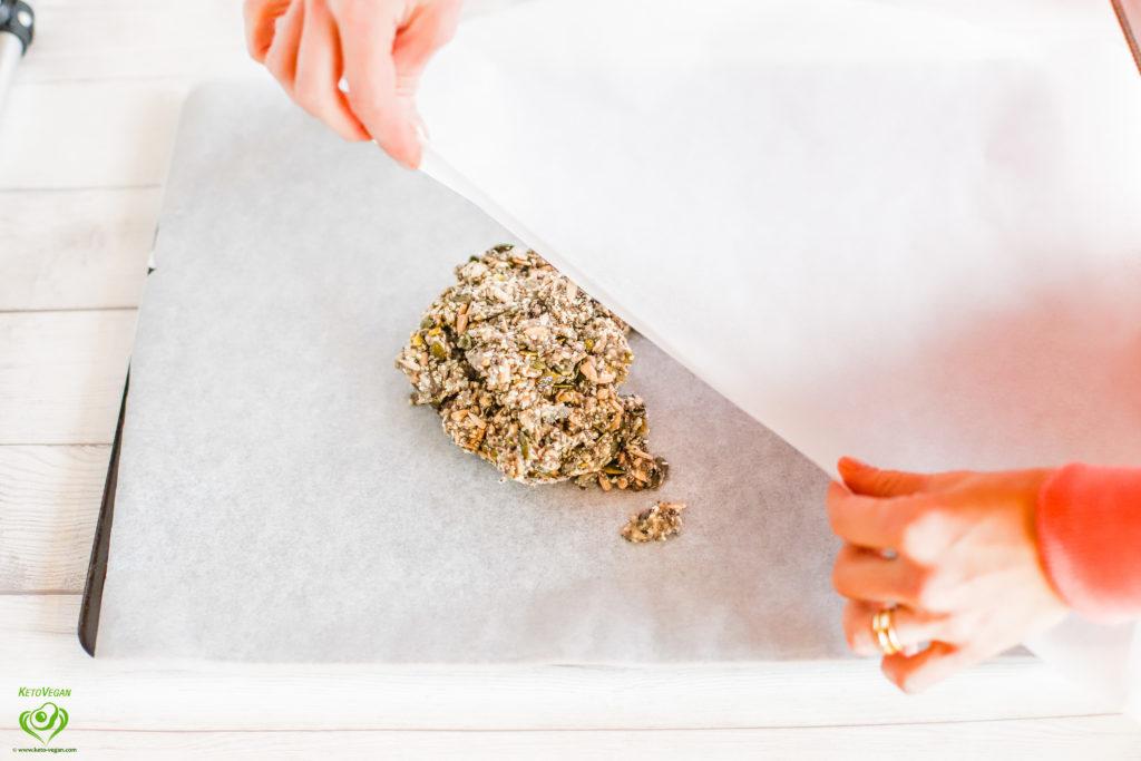Another parchment paper on top | keto-vegan.com