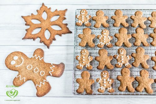 Grain-Free Sugar-Free Vegan Gingerbread Cookies