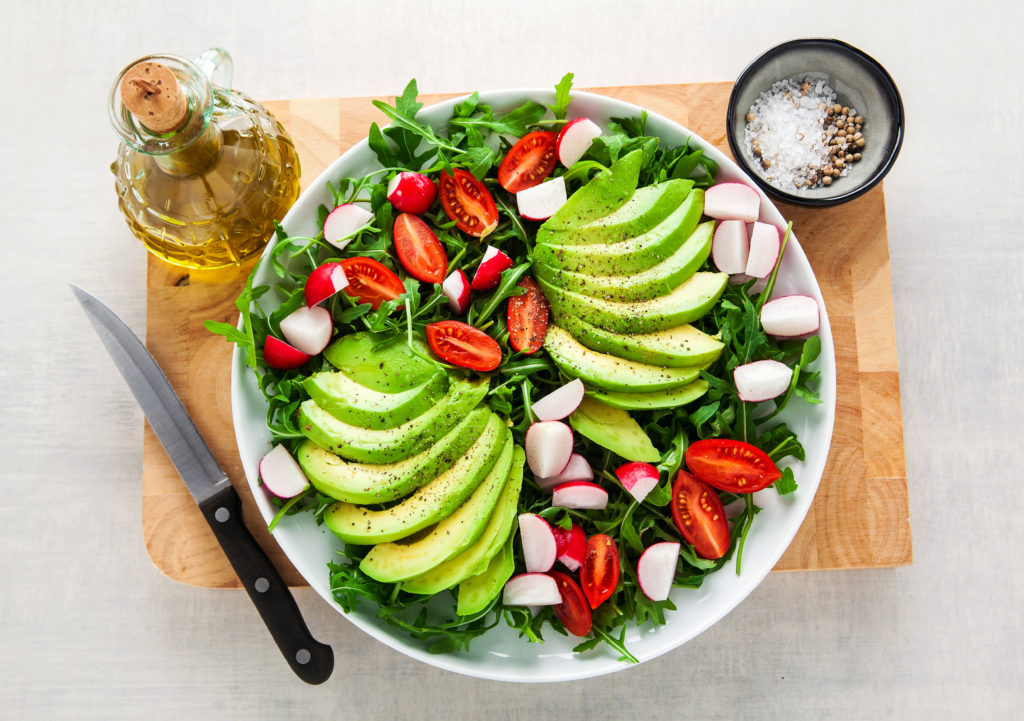 Keto-vegan salads are healthy and nutritious