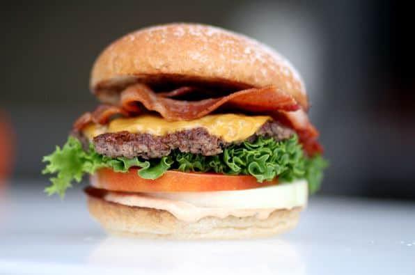 burger with bun from hardees