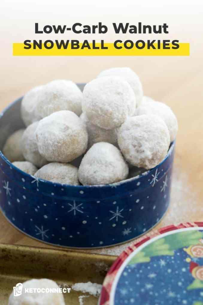 Walnut snowball cookies pin