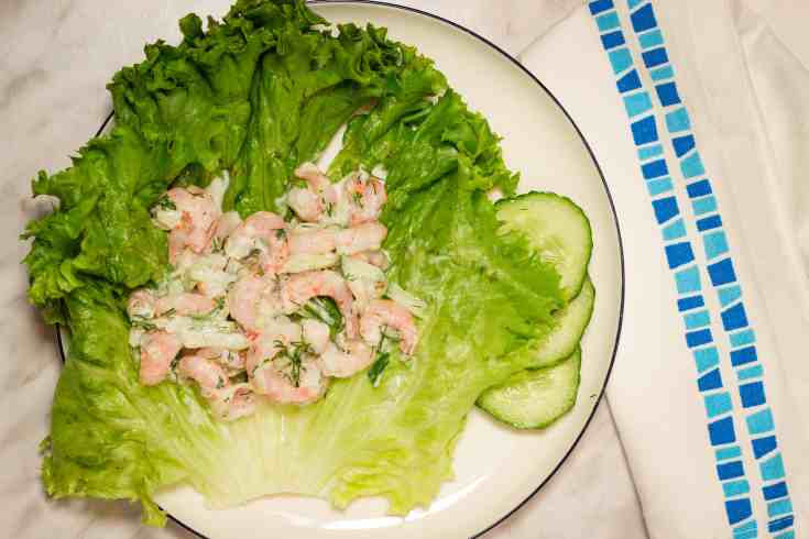 Ketoized Shrimp Salad with Dill