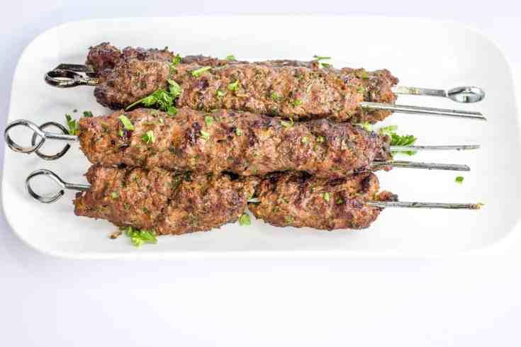 Keto/Low-Carb Kefta Beef Kabobs