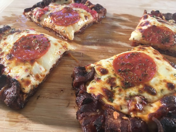 Bacon Crust Pizza