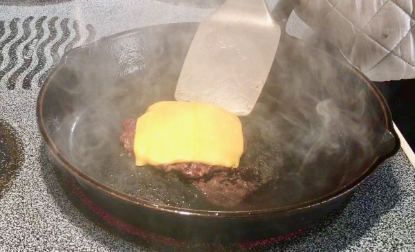 smash burger with cheese