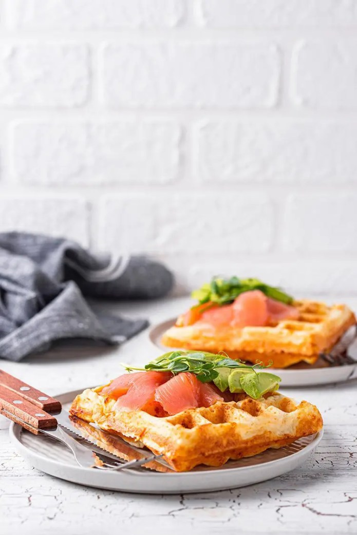 By far the BEST keto waffles recipe. Delicious, crunchy and flavorful with so many options. Quick and easy to create with all the instructions you need! #ketorecipes #chaffles #healthyfood #ketosis