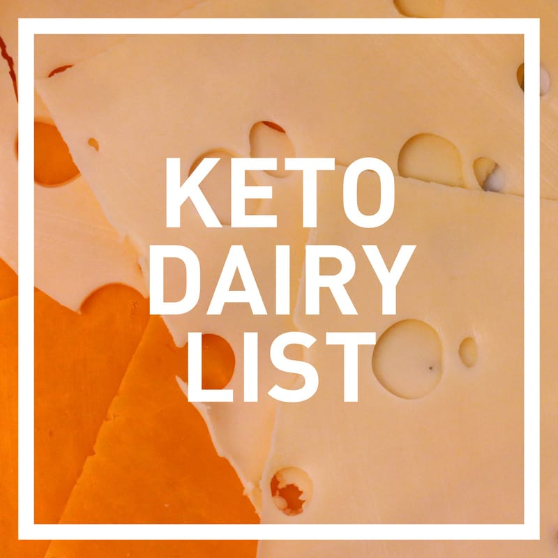 keto foods dairy list for grocery shopping - photo of low carb cheeses