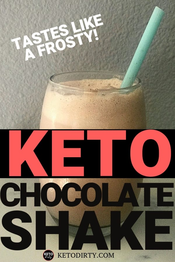 Delicious Chocolate KETO shake. This low carb dessert is the perfect way to stop a sweet tooth and fill a sugar craving. This easy KETO dessert will become a nightly favorite snack.