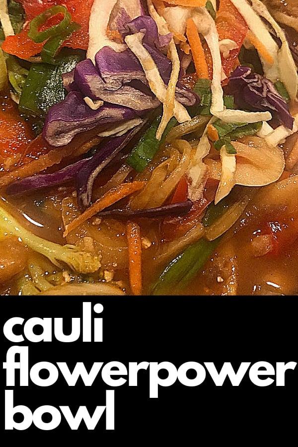 keto cauli flower power bowl at pei wei asian diner