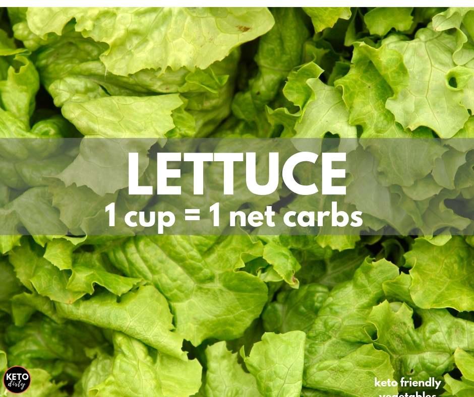 lettuce low carb veggie 1 net carb