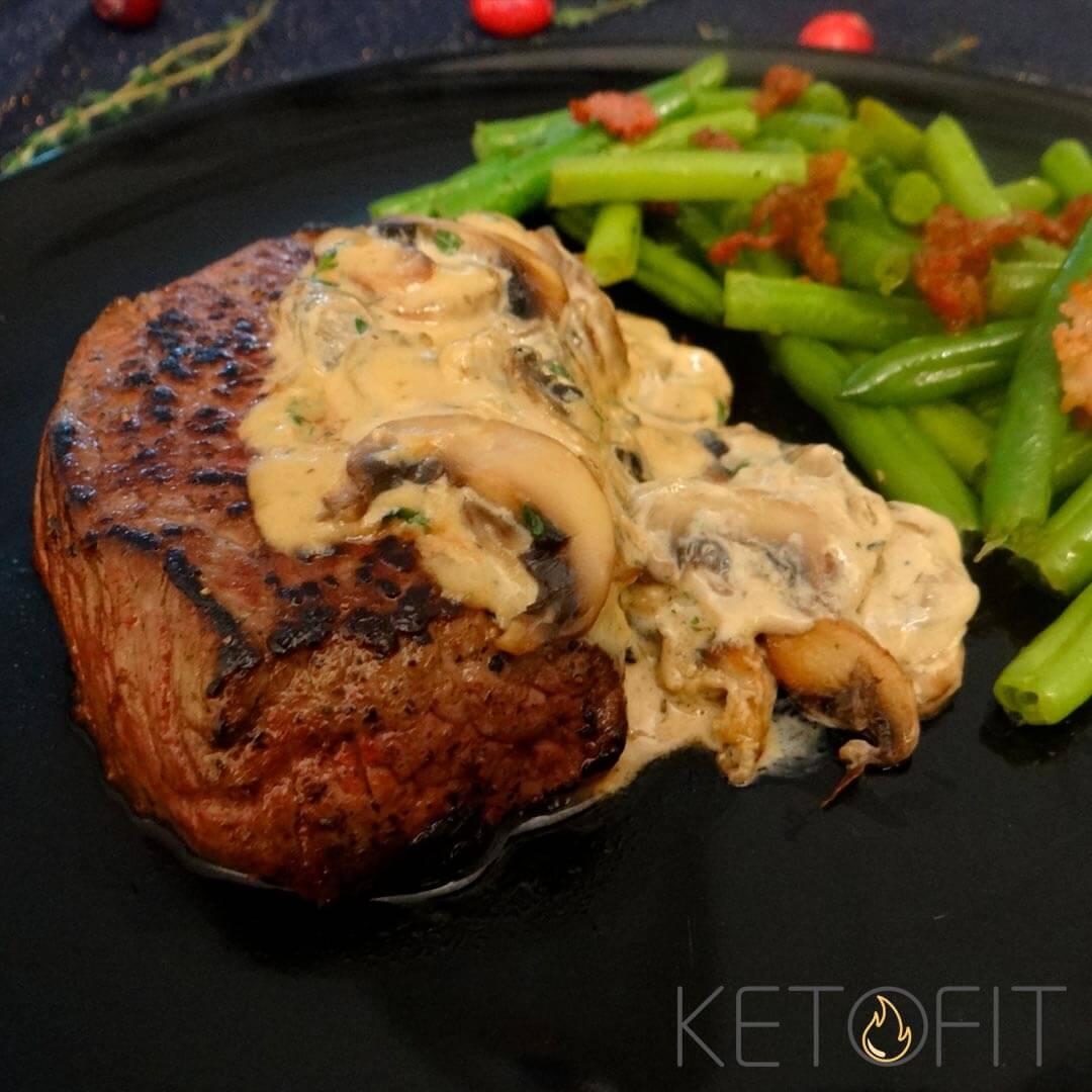 Biefstuk champignonroomsaus keto recept