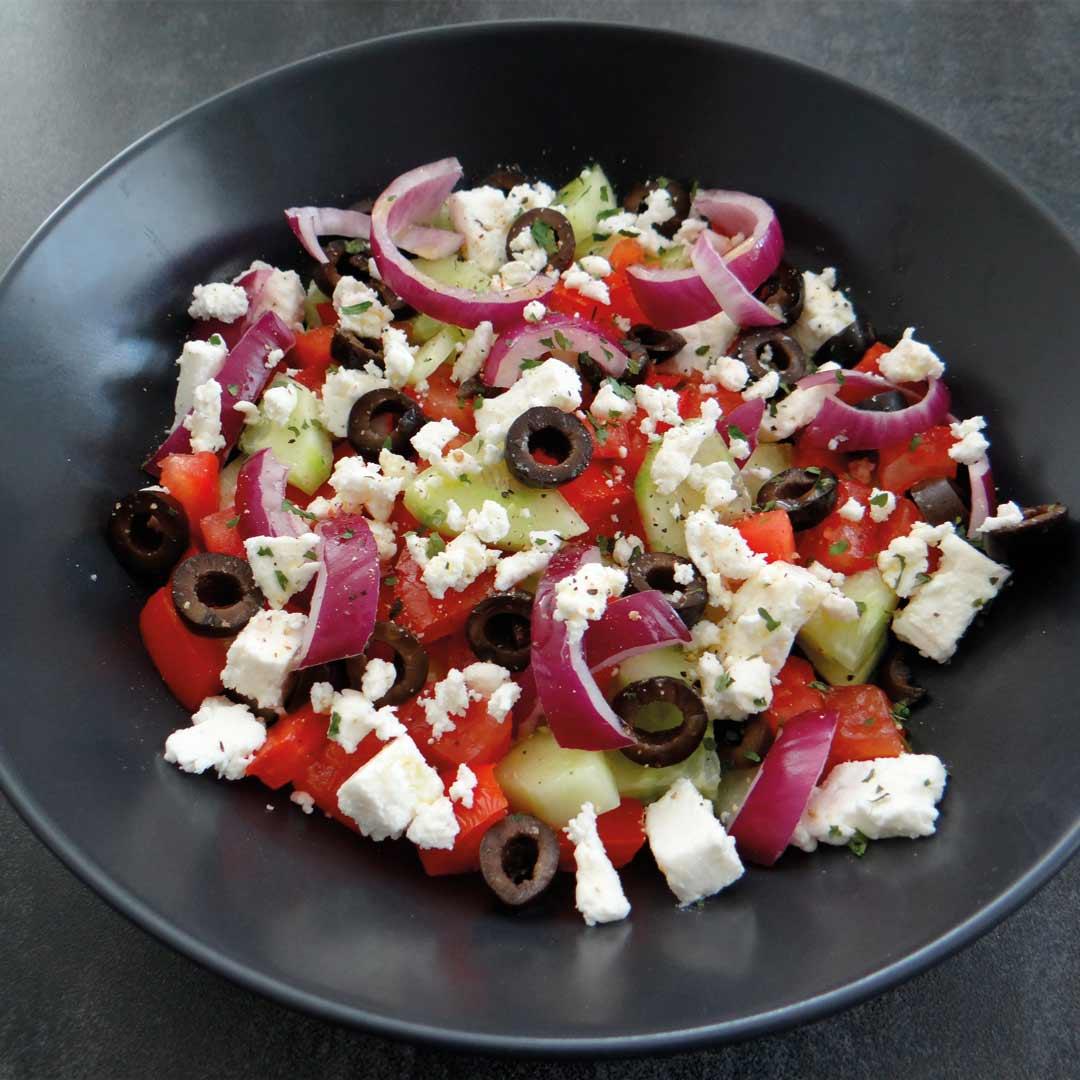 Keto griekse salade recept
