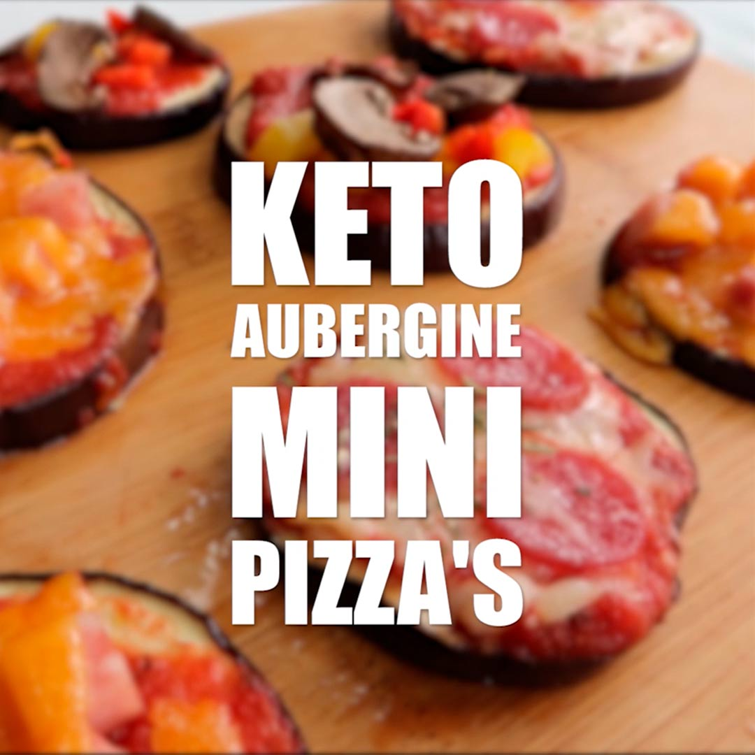 Keto aubergine mini pizza recept