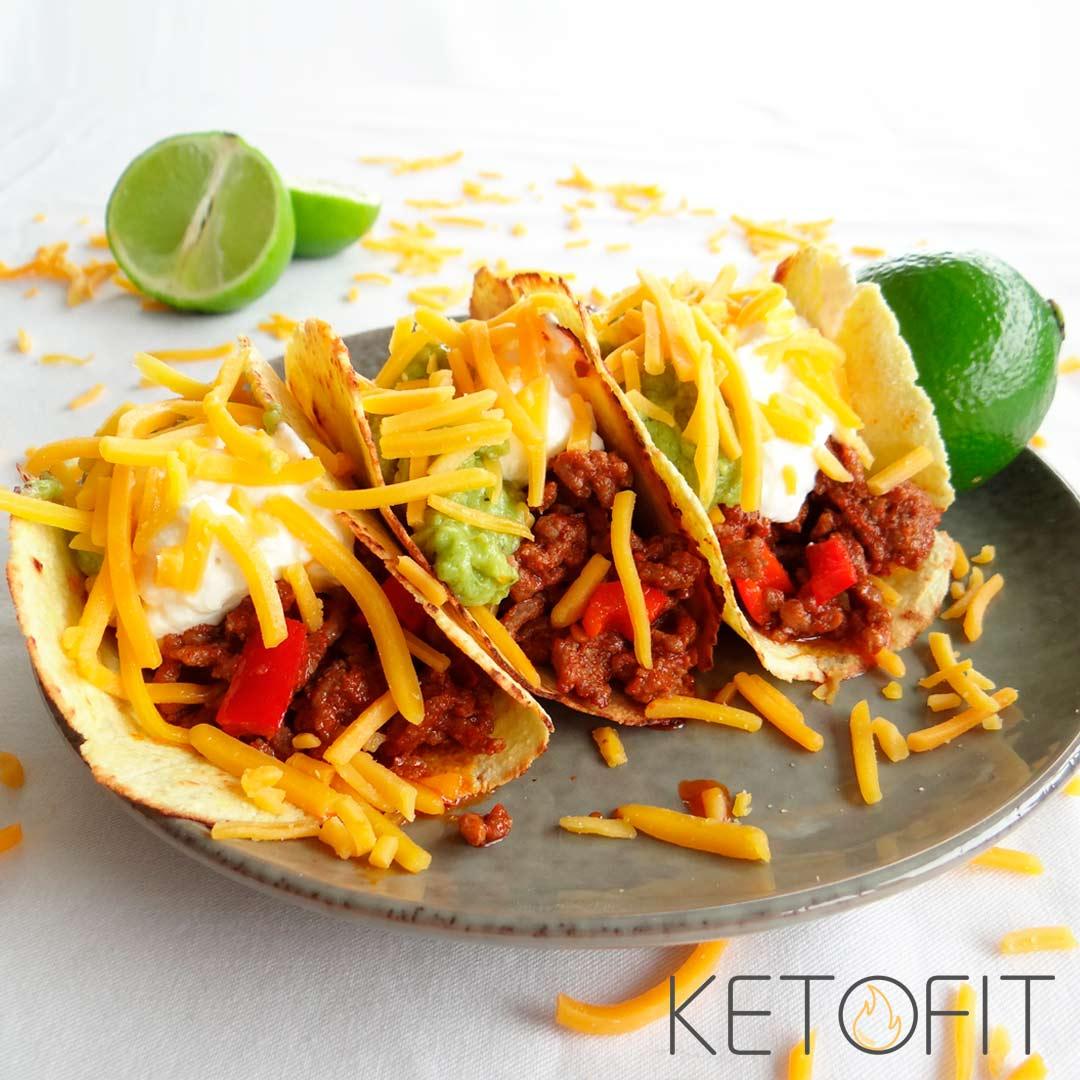 Keto taco's met gehakt recept