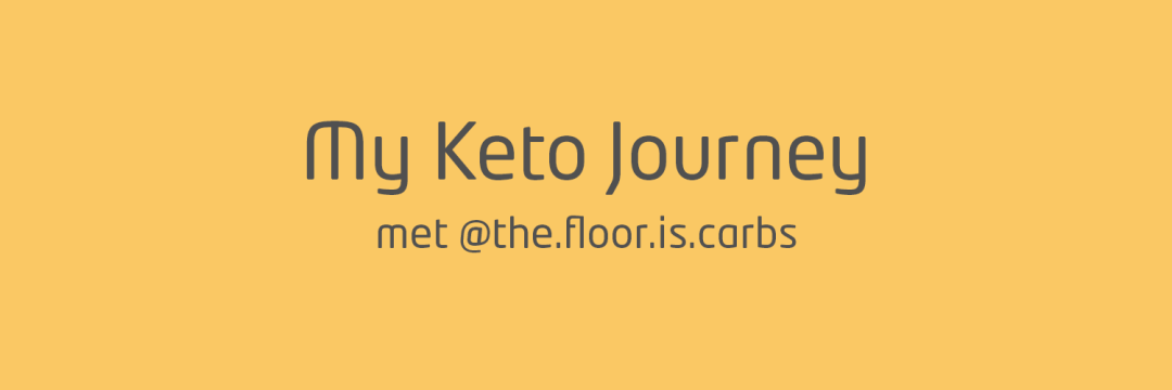 My keto journey the floor is carbs