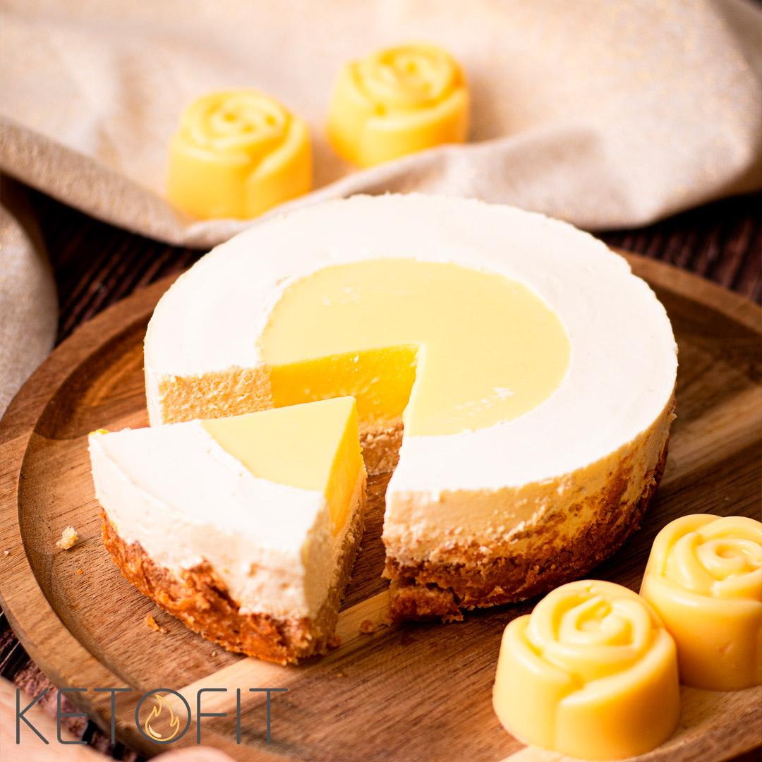 Recept Keto Mini Lemon Curd cheesecake