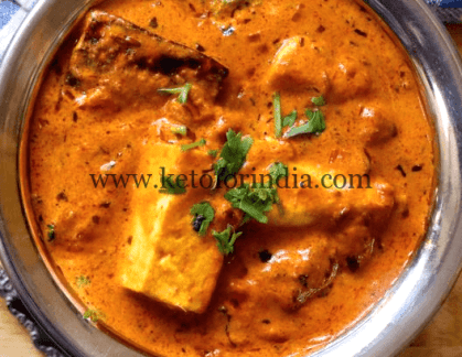 Keto Diet Plan for Navratri 7 - Dinner Idea