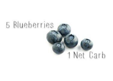 net carbs in blueberries keto