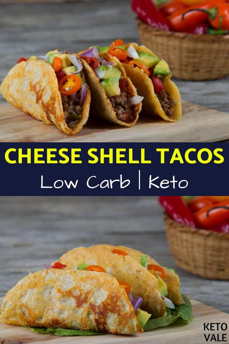 Keto Cheese Shell Tacos