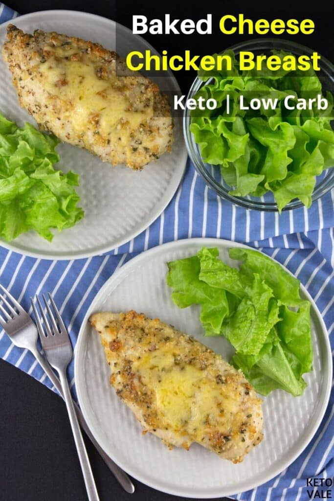 Easy Cheesy Baked Garlic Chicken Breast Low Carb Recipe ...