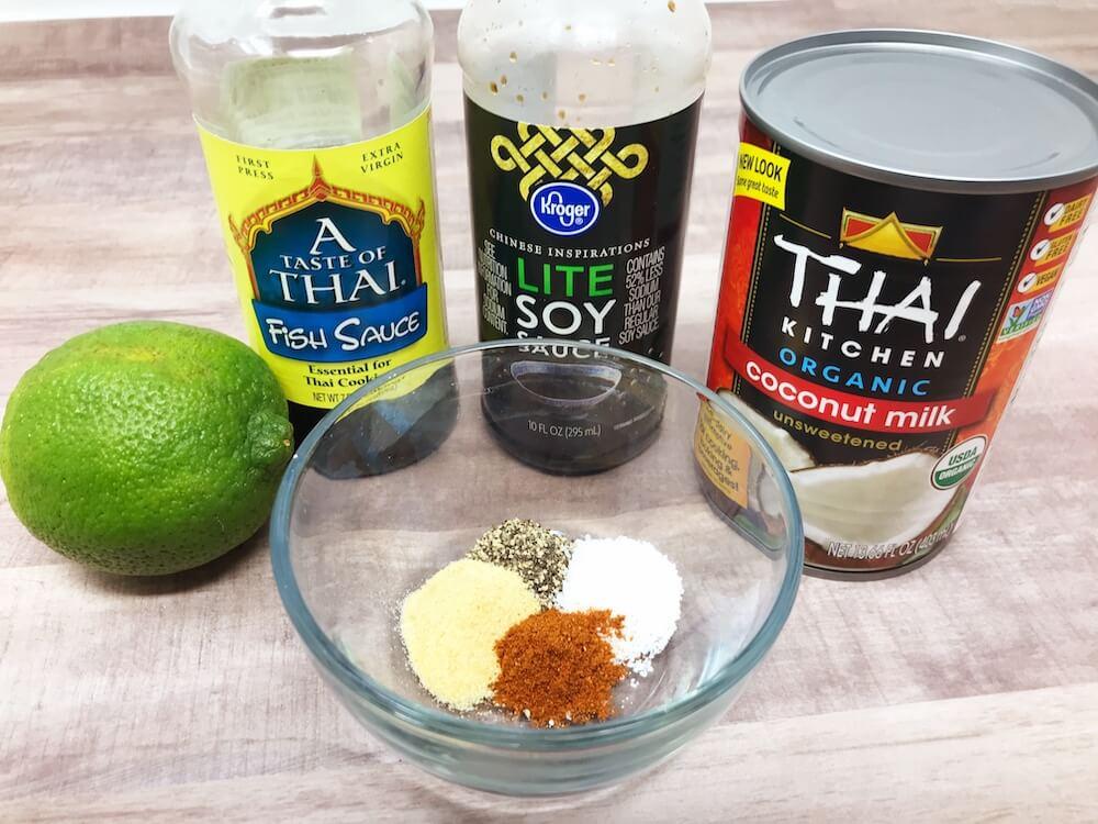 Keto Chicken Satay Marinade Ingredients