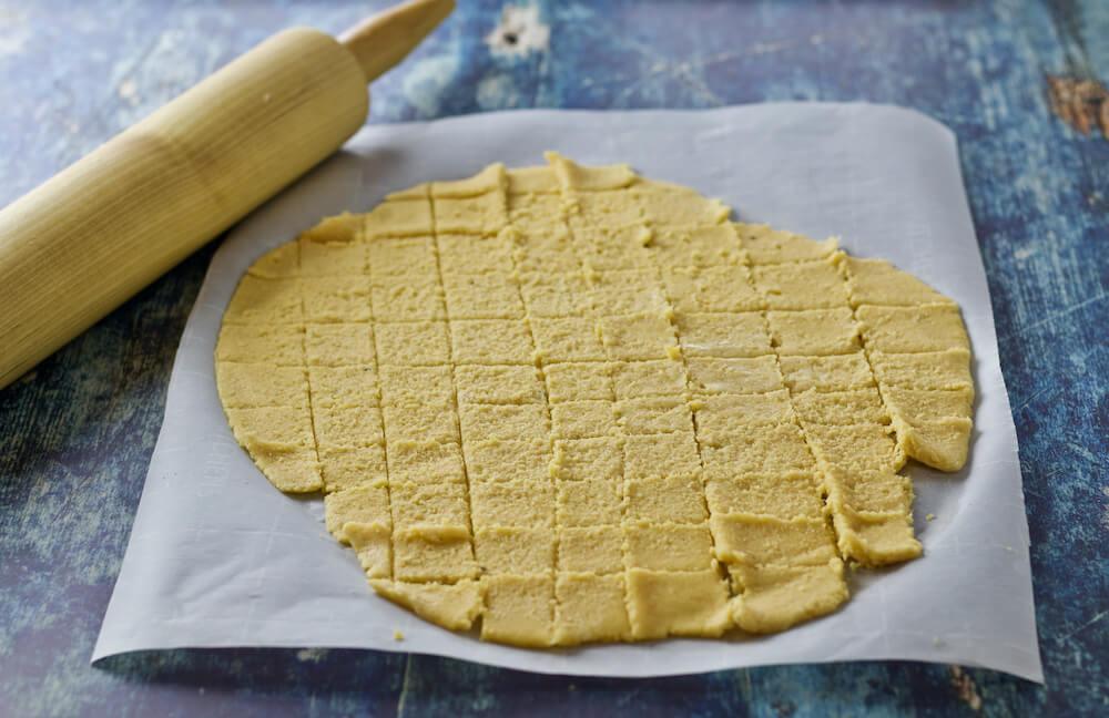 Low Carb Cheese Crackers - Keto Cheez-It Copycat - Dough Cut