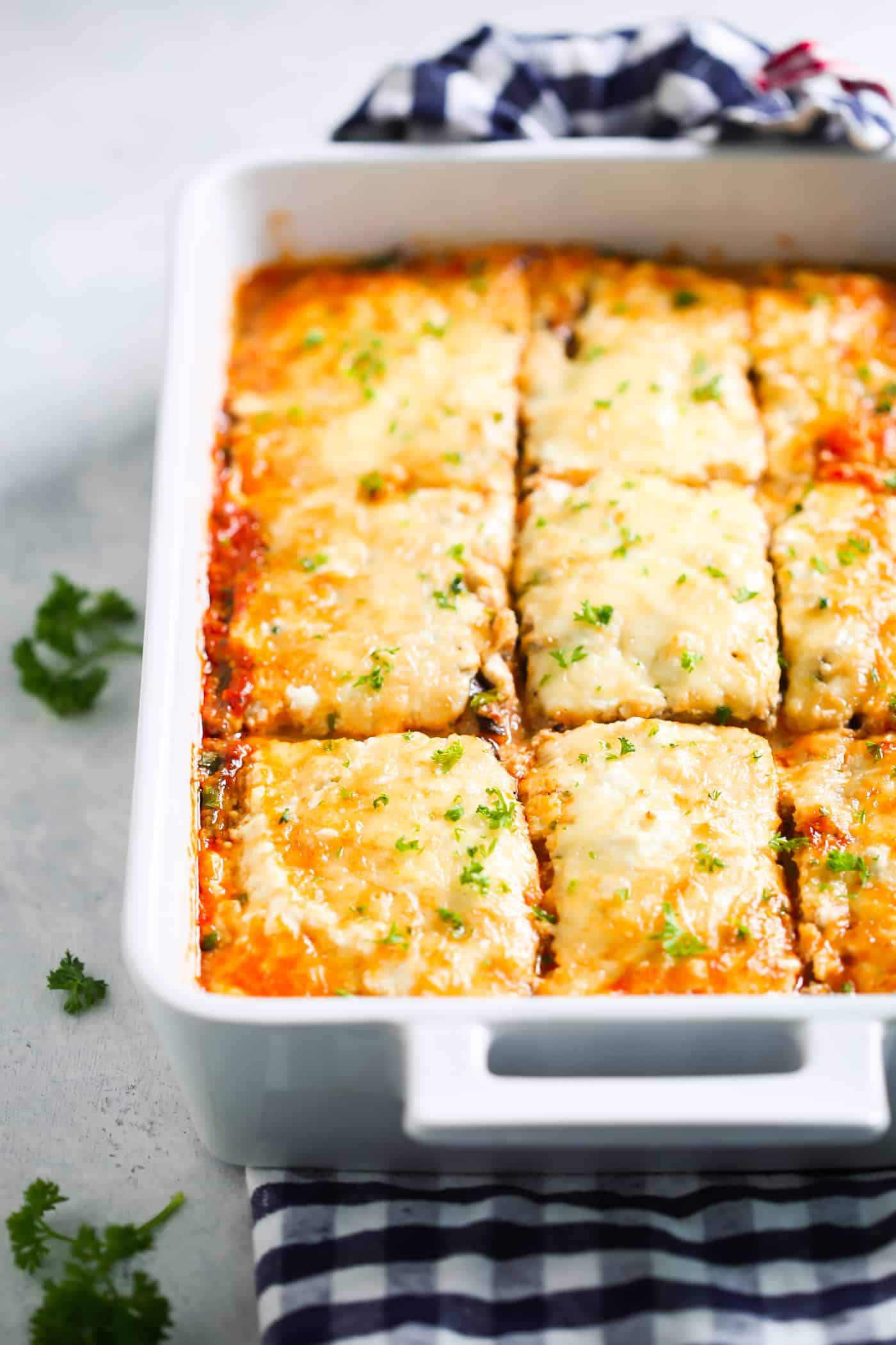 Low-carb Eggplant Lasagna Vegetarian Keto Recipe