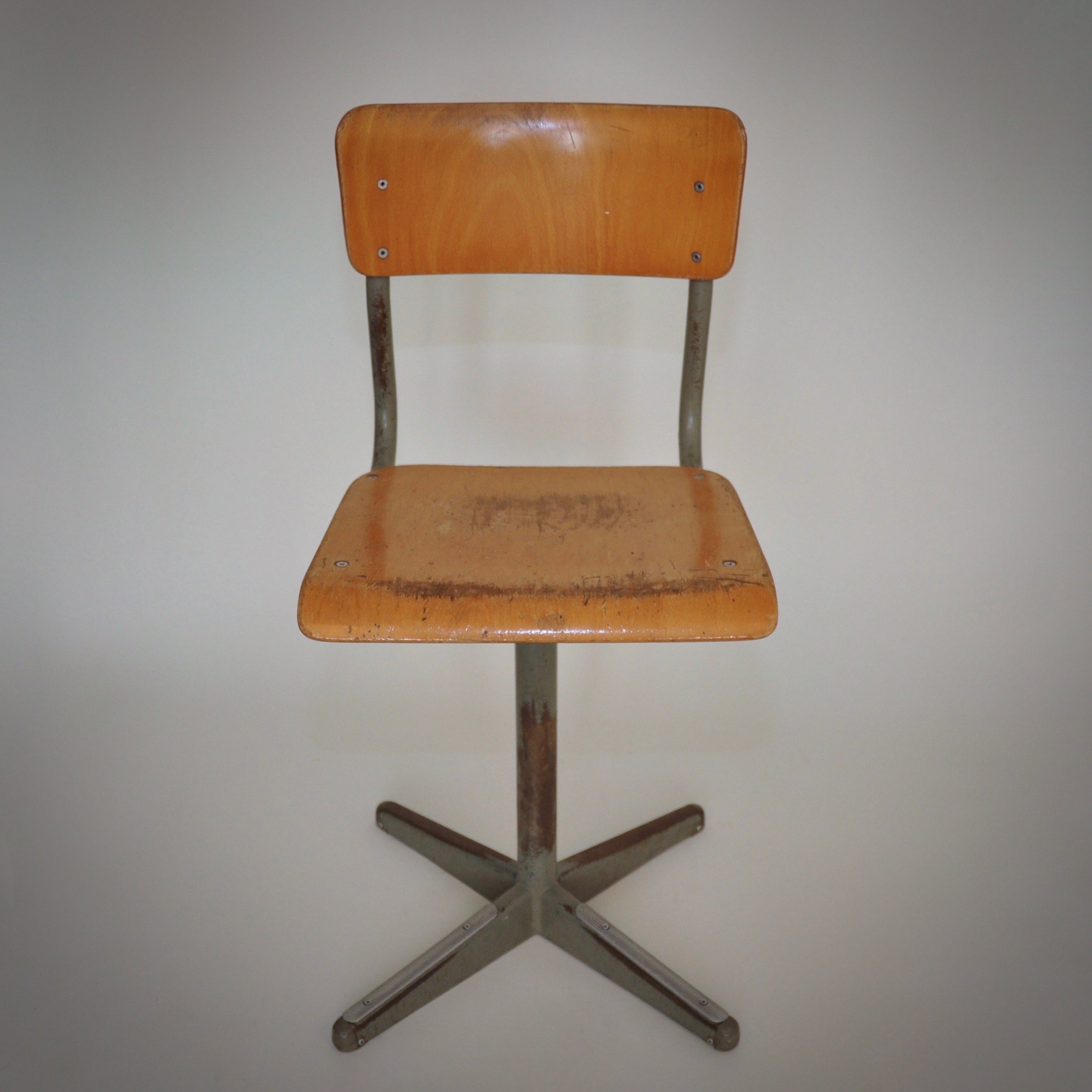 Mooie Stevige Bureaustoel.Industriele Stoel Ketsch Vintage Check Onze Webshop