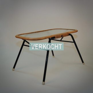 Retro rattan table vintage bohemien