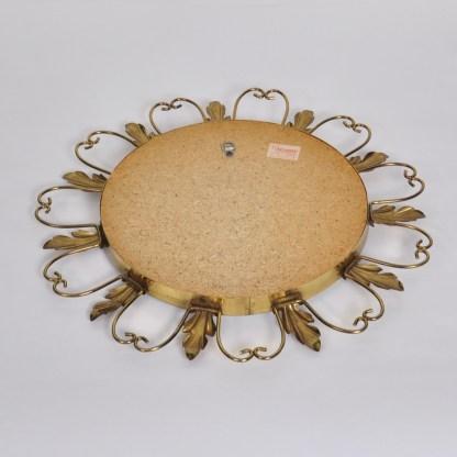 Vintage Zonnespiegel Messing