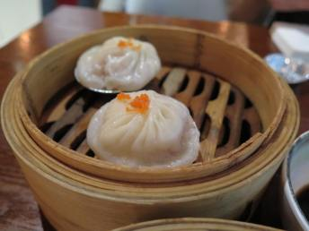 Shanghai dumplings. Caution: Filled with hot broth. Give it time, then put the whole thing in your mouth. Or try it your way. Good luck.