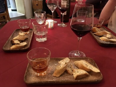 One of the best ways to eat dessert in Italy: Tuscan cantucci and vin santo. ©KettiWilhelm2017