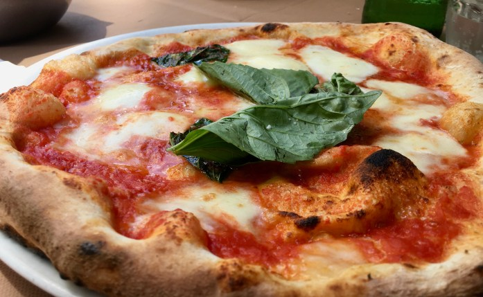 A classic pizza margherita in Naples, Italy – lighter than you might expect! ©KettiWilhelm2020
