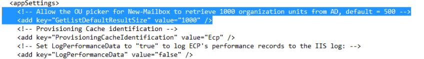 edit web config file