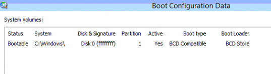 Bootable boot Config