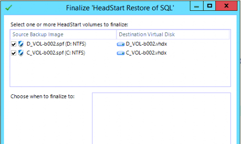ShadowProtect ImageManager HeadStart Restore with HyperV - Kettlewell IT