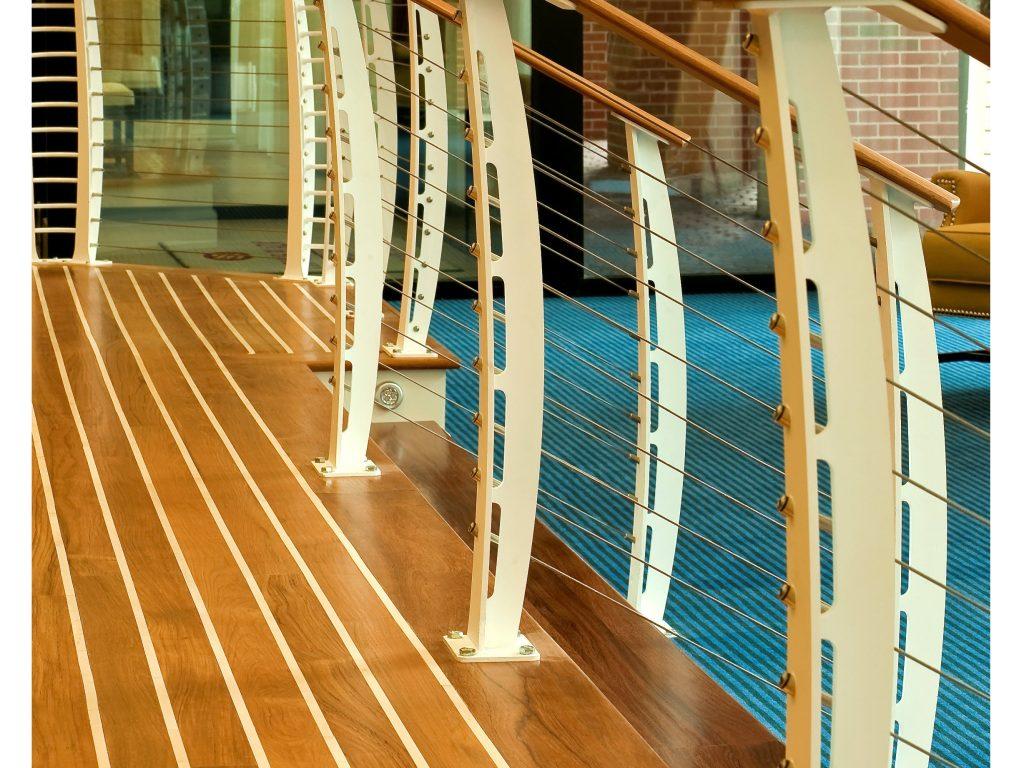 Nautical Cable Railing Design Hampton VA Keuka Studios