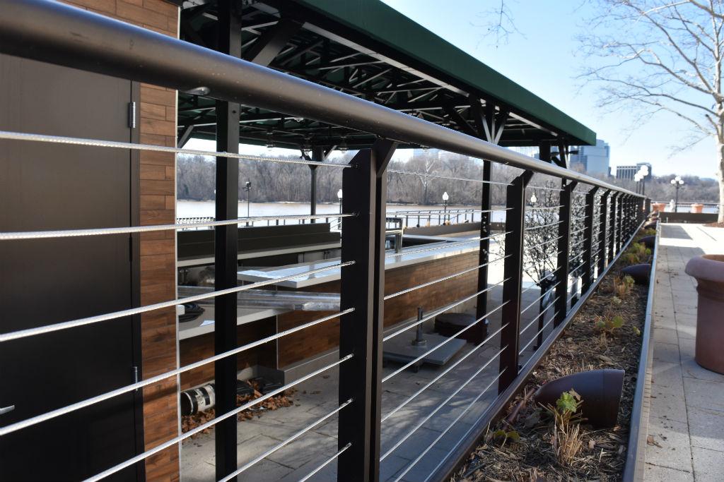 terraced patio restaurant railing