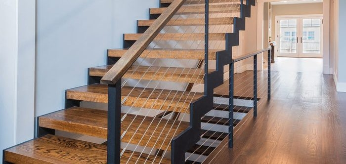 6 Types Of Stair Treads What To Know Before Choosing Various | Knotty Pine Stair Railing | Tongue Groove | Antique Wooden Stair | Log | White | Newel Post