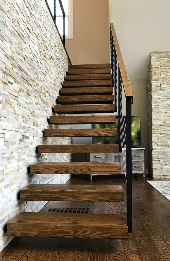 6 Types Of Stair Treads What To Know Before Choosing Various | Red Oak Stair Treads | Non Slip | Bullnose Manufacturing | Modern | Dark Stain | Wood