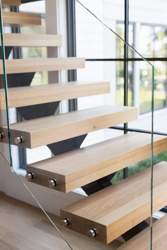 3 1 2 X 3 1 2 X 48 Sleek Modern Stair Newel Post Solid Red Oak | 48 Inch Red Oak Stair Treads | Wood Stair | Stair Nosing | Solid Oak | Stair Riser Kit | Bull Nose