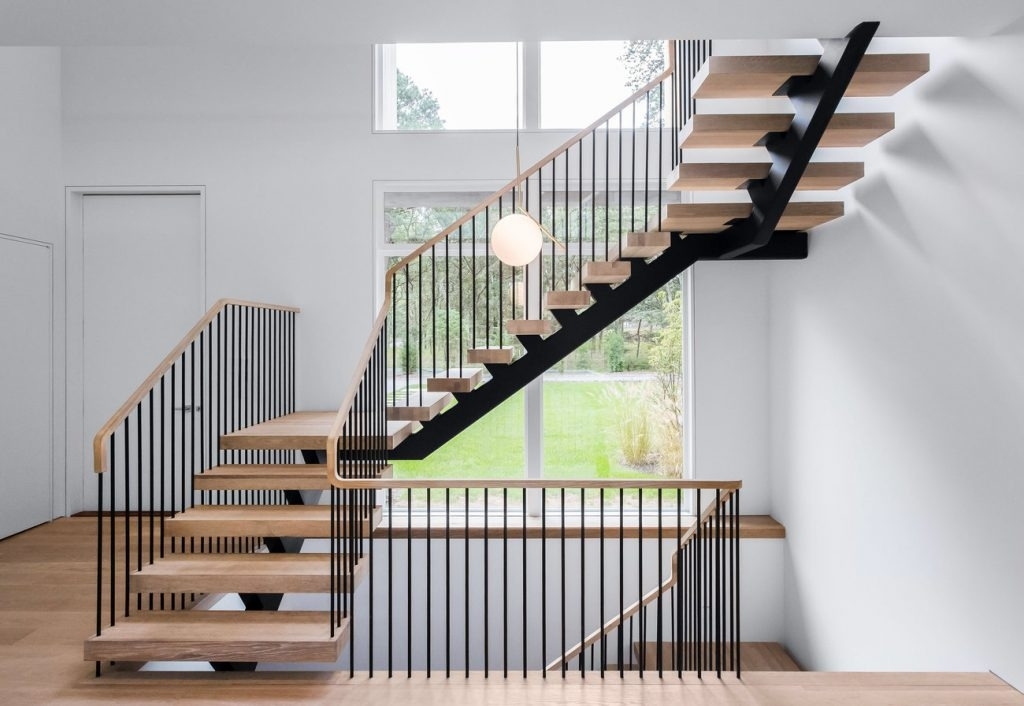 How Much Do Custom Floating Stairs Cost Keuka Studios   Glass Stair Treads Cost   Floating Staircase   Handrail   Floating   Steel   Iron Stair