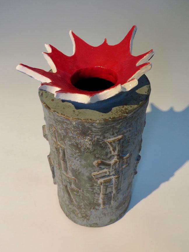 Bam! Bam! Vase by Kevin Eaton