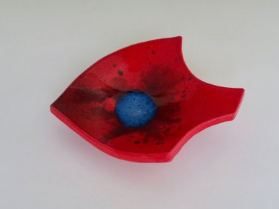 Red Fish Candy Dish by Kevin Eaton